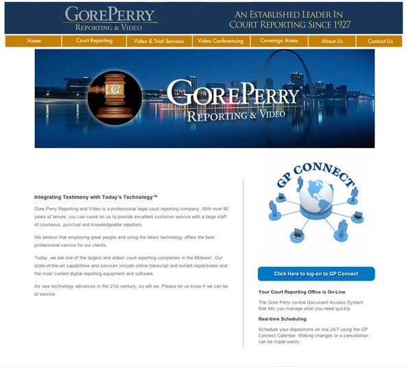 Court Reporting Company website designer